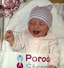 Anna Pešátová, Uničov, narozena 16. ledna ve Šternberku, míra 50 cm, váha 3540 g