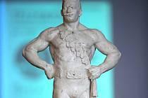 Prezentace modelu sochy Gustava Frištenského v Městském klubu v Litovli