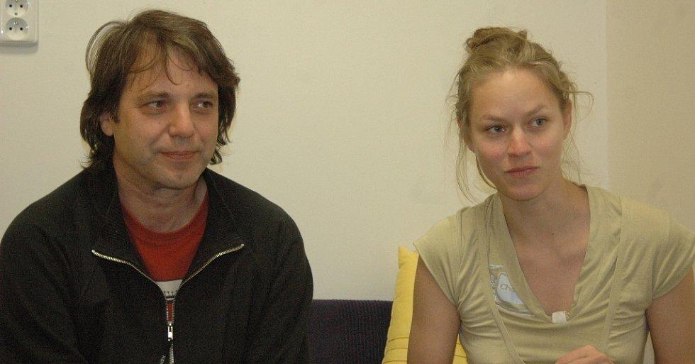 Režisér Vladimír Michálek a Mariana Kroftová.