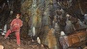 Výzdoba Svatováclavského dómu v jeskyni Za Hájovnou v Javoříčku