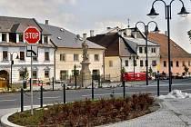 Náměstí v Moravském Berouně. Ilustrační foto