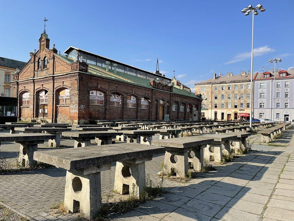 Tržnice v Olomouci, září 2021