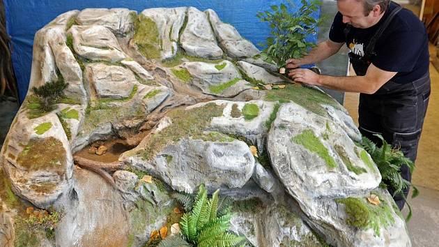 Model prameniště řeky. Exponáty do připravované Pevnosti poznání v Olomouci