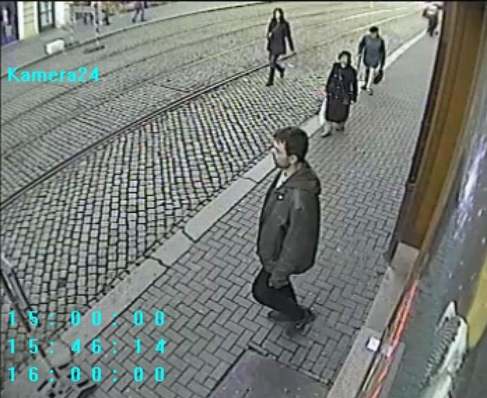 Pachatel přepadení herny v ulici 8. května v Olomouci