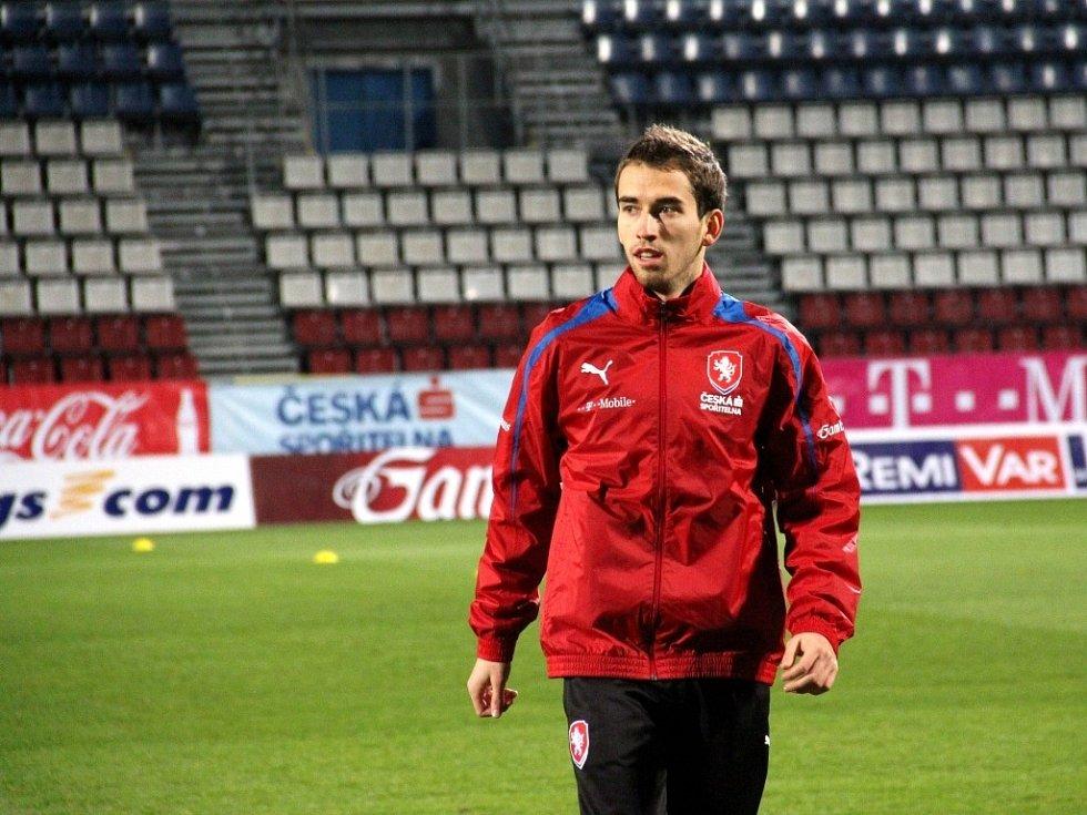 Česká fotbalová reprezentace v Olomouci na treninku - Tomáš Hořava