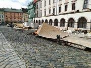 Vítr v Olomouci, Horní náměstí.