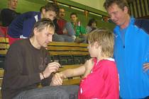 Na turnaj byl hostem i gólman Martin Vaniak.