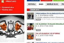 Web olomoucké radnice s kalendářem akcí