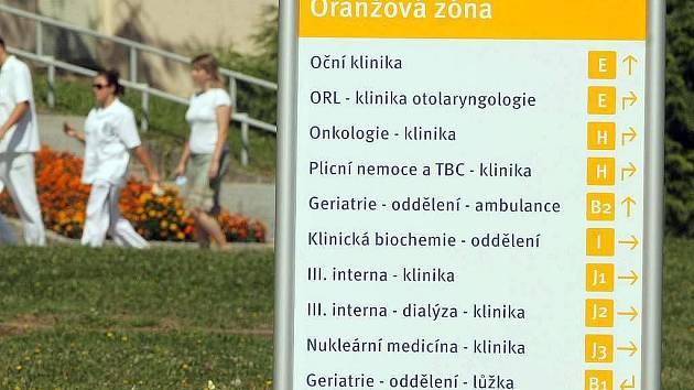 Fakultní nemocnice Olomouc. Ilustrační foto