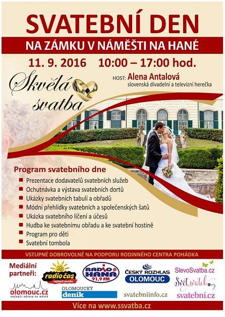 Pozvánka na Svatební den vNáměšti na Hané.