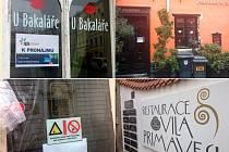 V centru Olomouce v poslední době skončilo několik zavedených restaurací. Nahoře U Bakaláře a U Anděla, dole Potrefená Husa a Vila Primavesi