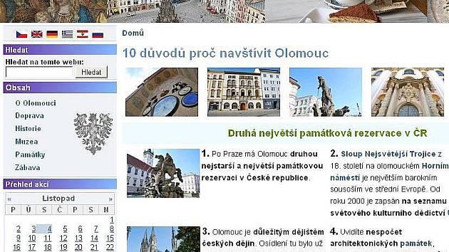 Nový web o Olomouci