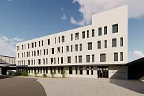 Vizualizace interního pavilonu pro SMN Šternberk