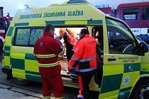 Záchranáři zasahují u popáleného muže v Haňovicích