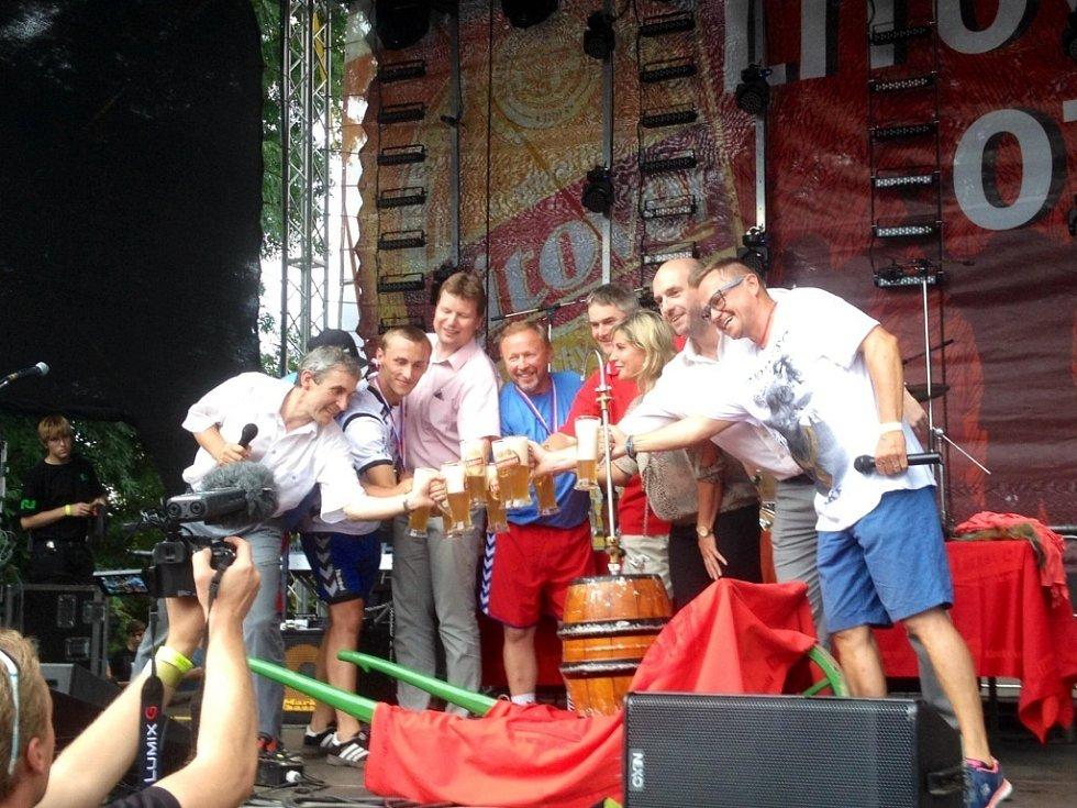 Festival Litovelský otvírák v pivovaru v Litovli na Olomoucku v sobotu 9. srpna.