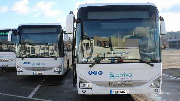 Autobusy společnosti Arriva. Ilustrační foto