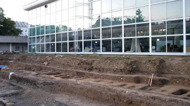 Archeologické vykopávky u pavilonu A na Výstavišti Flora