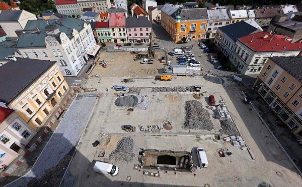 Rekonstrukce náměstí Přemysla Otakara vLitovli