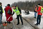 Vyšetřování nehody na přejezdu u Chválkovic