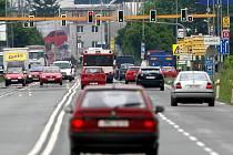 Příjezd od Olomouc od Ostravy po Lipenské ulici. Ilustrační foto