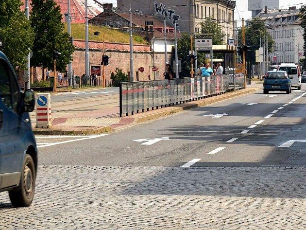 Oprava tramvajové trati zavře třídu Svobody od křižovatky U Drápala k tržnici