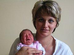 Barbora Pluhařová, narozena 21.5., váha 3340 g, míra 52 cm, Horka nad Moravou.