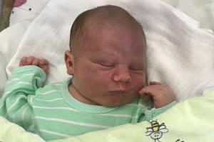 Lukáš Blanař, Olomouc, narozen 2. srpna, míra 52 cm, váha 3970 g