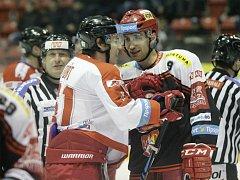 Olomoučtí hokejisté. Tomáš Fořt a Bedřich Köhler. Ilustrační foto