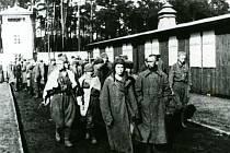 Archivní snímek z koncentračního tábora Sachsenhausen.