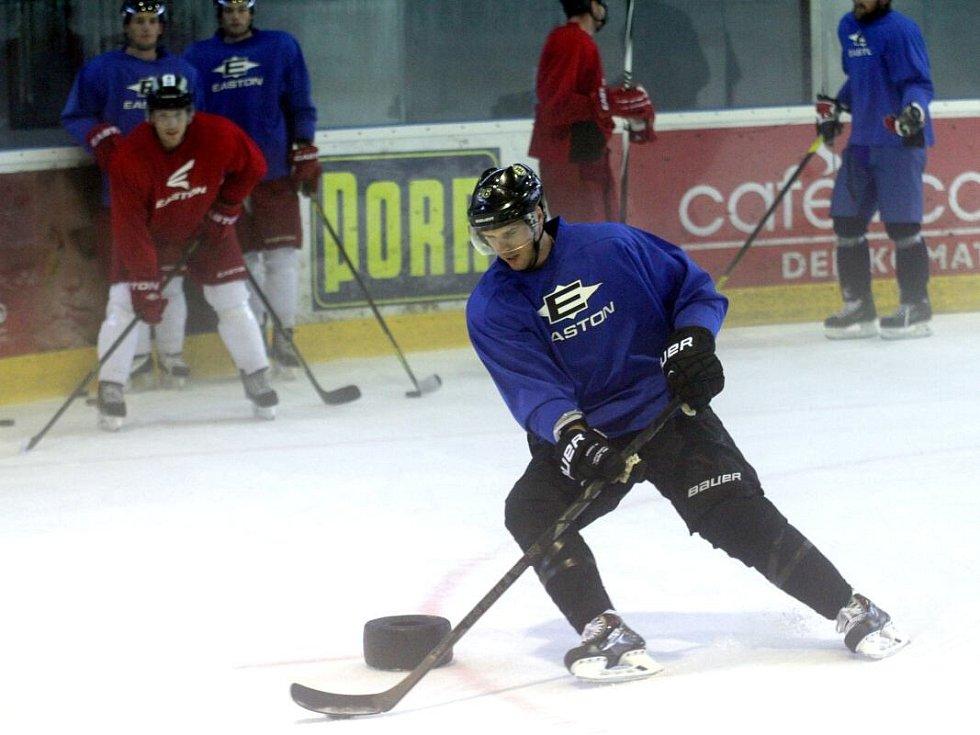 David Krejčí na tréninku HC Olomouc