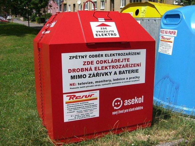 Kontejnery na drobná elektrozařízení