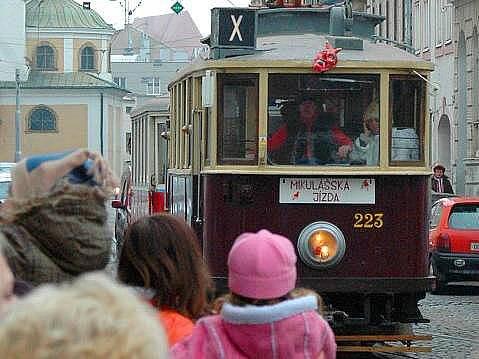 Mikulášská tramvaj v Olomouci. Ilustrační foto