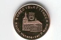 Pamětní mince Velký Týnec.
