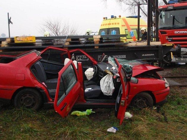 Nehoda na přejezdu u Třebčína
