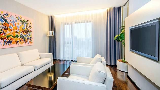 Apartmá kategorie Junior suite v olomouckém NH hotelu, kde se už podruhé ubytuje prezident Miloš Zeman při své oficiální návštěvě Olomouckého kraje.