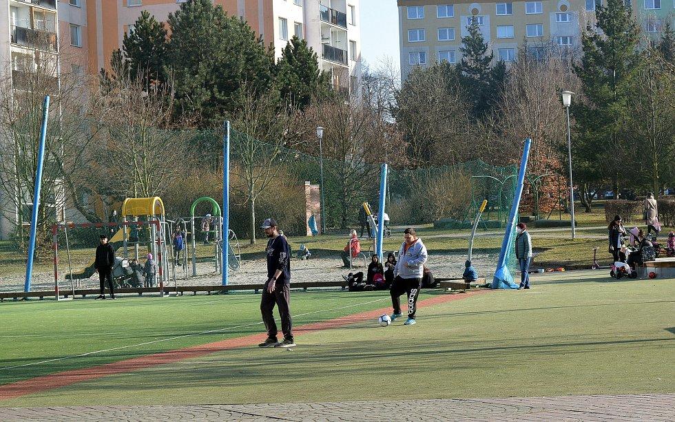 Park Malého prince v Olomouci. 2. března 2021