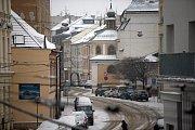 8. ledna 2019. Zasněžené centrum Olomouce