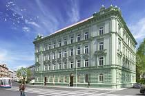 Vizualizace bytového projektu Palackého 17-19 v Olomouci