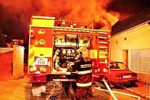 Požár domu u vlakového nádraží v Olomouci