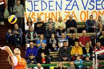 Olomoucké volejbalistky v hale UP na Lazcích. Jeden za všechny, všichni za Olomouc!