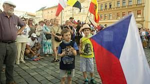 Demonstrace na nezávislost české justice a proti Andreji Babišovi v Olomouci - 11. 6. 2019