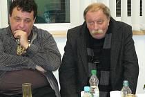 Režisér Vladimír Drha a producent Pavel Melounek