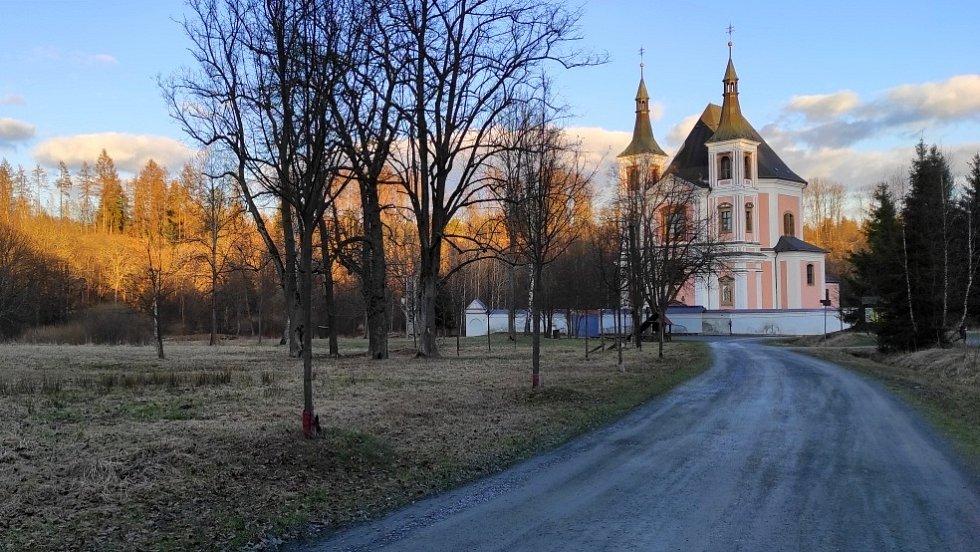 Kostel svaté Anny a Jakuba Většího ve Staré Vodě na Libavé