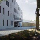 Vizualizace první energeticky úsporné klinika v České republice v areálu olomoucké fakultní nemocnice