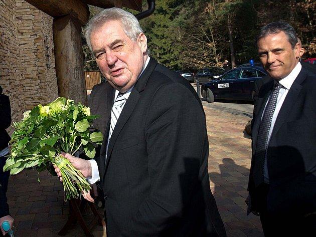 Prezident Miloš Zeman vOlomouckém kraji. Ilustrační foto