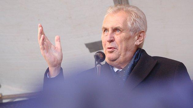 Miloš Zeman na cestě po Plzeňském kraji v říjnu 2017