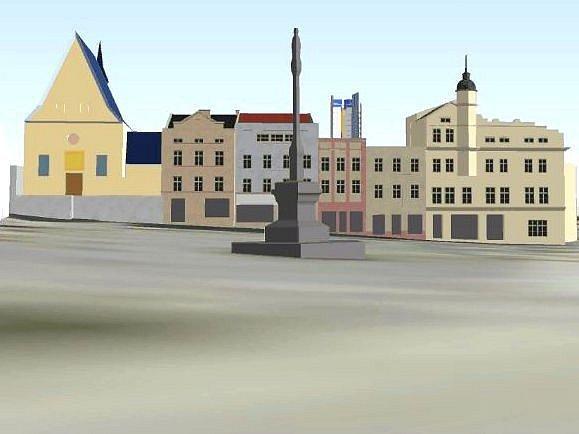 Jak bude vidět Šantovka Tower? Vizualizace pohledu z Dolního náměstí