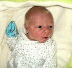 Šimon Marek, Šternberk, narozen 16. ledna ve Šternberku, míra 49 cm, váha 3030 g