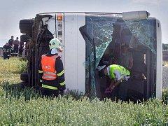 Nehoda autobusu se studenty na obchvatu Olomouce