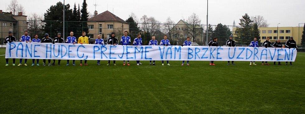 Vzkaz fotbalistů Sigmy dlouholetému a věrnému fanouškovi